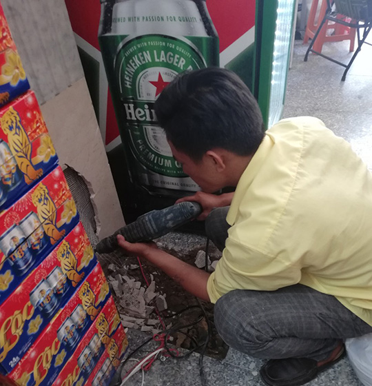 Thợ dò tìm sửa chữa rò rì nước Anh Vinh