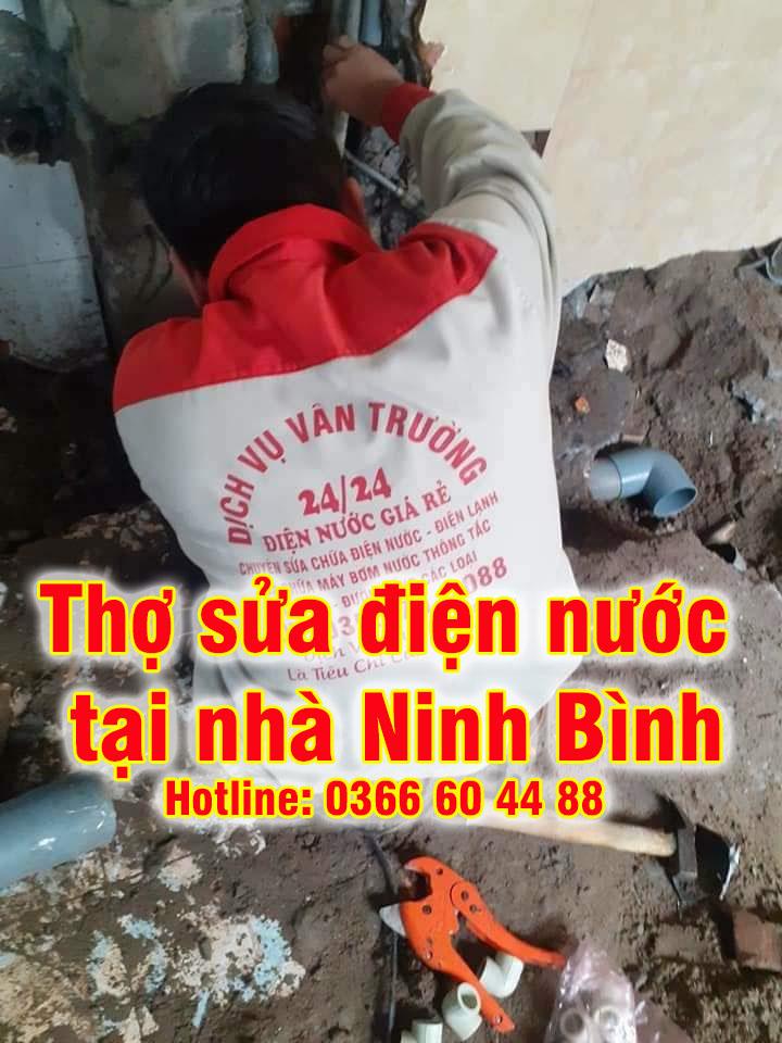 Thợ sửa điện nước tại Ninh Bình